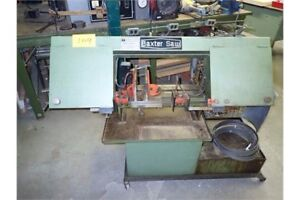 Baxter horizontal band saw
