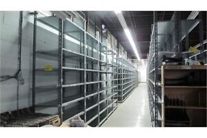 "Industrial nut and bolt shelving 48"" long x 18"" deep up to 10'"