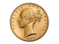 1841 Full Gold Sovereign Coin