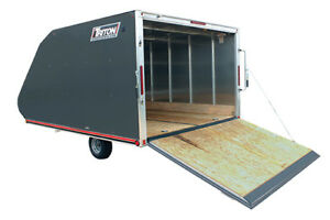 WANTED 12 ft enclosed double snowmobile  trailer
