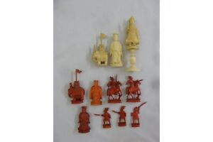 20the Century ivory Chinese chess pieces