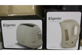 ELGENTO CREAM KETTLE & TOASTER SET NEW