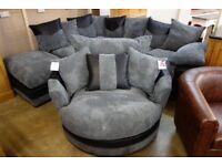 Dino corner sofa and matching swivel chair
