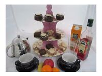 Cup Cake Stand 3 tier - pink design