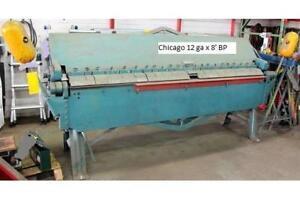 Brake 12 ga. x 8' chicago box and pan brake..