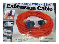 230v 25m Towing & Extension Cable boxed