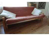 For sale - well used large hard wood Canadian double futon suitable for student living