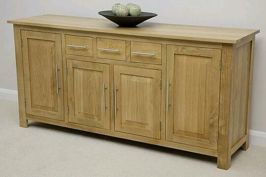 Beautiful Natural Solid Oak Large Sideboard Solid Oak