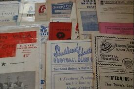 WANTED - OLD FOOTBALL MEMORABILIA PROGRAMMES - PRE 1970S - ESPECIALLY 40/50/60s ITEMS - NATIONSWIDE