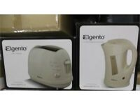 ELGENTO CREAM KETTLE & TOASTER SET NEW