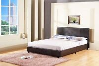 OVERSTOCK CLEARANCE, BRAND NEW QUEEN SIZE PLATFORM BED