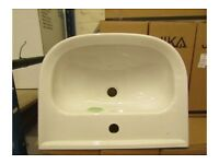 JIKA BY LAUFEN OLYMP 550MM 1TH SEMI-RECESSED BASIN. NEW & BOXED. Center tap hole