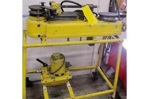 """Hydraulic rotary bender, 1-1/4"""" tube, enerpac hyd. pump, some tooling"""