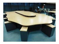 12 seater call centre desk pod