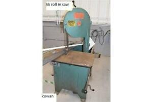 Roll in Bandsaw, K&K, 1 hp, 575 volt 3 phase 60 cycle,