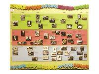 LARGE HERMAN MILLER POP ART STYLE DISPLAY BOARD VINTAGE RETRO FURNITURE TIMELINE