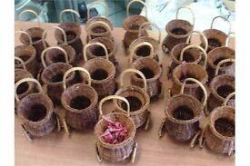 Small Wheeled Floral Display Baskets wedding flower basket