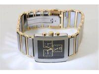 Tungsten Chronograph Black Face Watch nbr TU0067