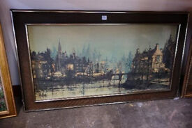 """1970's Framed piecture by """"FOLLAND"""" """"Spies of Paris"""""""