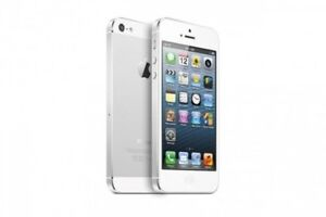 Cell Phone: iPhone 5 WHITE FACTORY UNLOCKED 16 GB in original bo