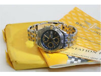 Breitling windrider chronomat steel & gold automatic wristwatch B13352 all paperwork