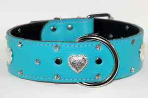 REAL LEATHER COLLARS WITH HEARTS