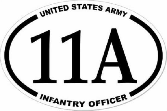 3X4.5 US ARMY INFANTRY OFFICER   11A  EURO STICKER