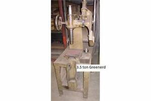 Press Arbor, Greenerd USA 3-1/2 ton Ratchet style on stand.