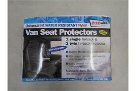 Universal fit water resistant nylon, van seat protectors, 1 single hi-back & 1 twin hi-back