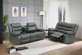 New black grey brow leather Roma sofas