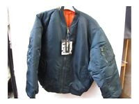 """Reversible Mens Bomber Jacket, new with tag, size 32"""" chest"""