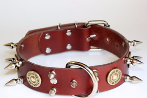 REAL LEATHER COLLARS WITH HEARTS AND SKULLS Prince George British Columbia image 6