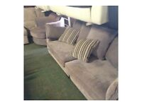 Lilac 4 Seater Sofa + Cuddle Chair Splits In Two Halfs
