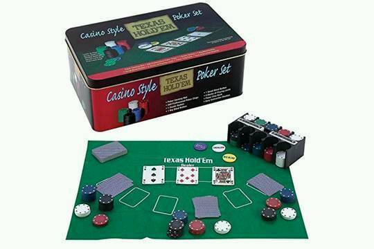 Brand new poker set with 2 decks and 200 chipsin Halesowen, West MidlandsGumtree - Brand new poker set with felt, chip holder, 200 chips and 2 decks. All contained within a tin for easy storageGift wrapping available Cash or PayPal accepted Collection any time Please call or text for further details