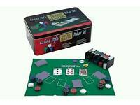 Brand new poker set with 2 decks and 200 chips
