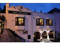 Full time / part time Bar & Waiting Staff at The Anchor Cambridge