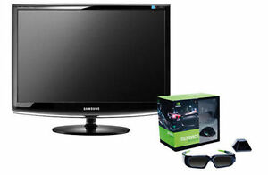 "2 Samsung 22"" Monitors with 3D glasses"