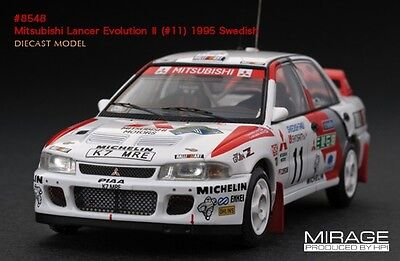 Tommi Makinen - HPI #8548 Mitsubishi Lancer Evo 2 1995 Swedish Rally 1/43 model