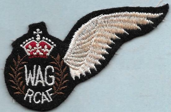 BCATP Pattern Wireless Air Gunner Repro Wing Patch, RCAF
