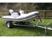 Inflatable Rib, Valiant D-340 (3.40m) With 15hp 4 Stroke Outboard Engine