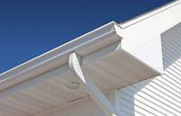 EAVESTROUGHS/SOFFIT & FASCIA/ SIDING/DOWN PIPES/ALL REPAIRS!