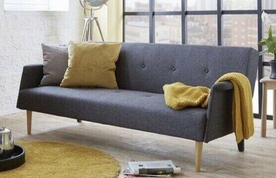 reputable site a91c8 df17b DFS Rhys Dark Grey Double Sofa Bed (Like New)   in London   Gumtree