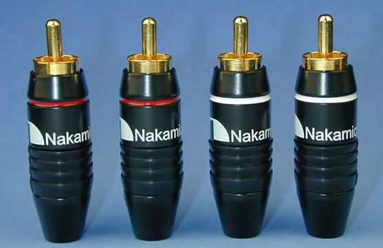 4 Pack Nakamichi 24k Gold Plated RCA Plugs Audio Cable Connector Adapter N0556