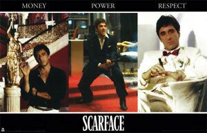 Scarface (1983) Money Power Respect 24x36 Poster Print Al Pacino Tony Montana