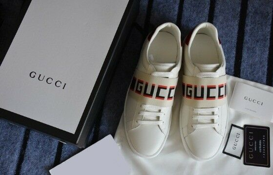 57e270c9c6c Gucci New Ace stripe leather trainers Men Women Unisex Trainers Sneakers  Shoes Various Sizes
