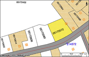 0.75 ACRES/PARTIAL DRIVEWAY/LOTS OF RD FRONTAGE IN ROUND HILL