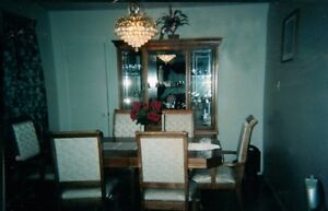 Dining set and curio cabinet