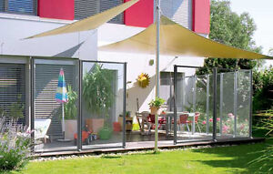Windschutz glas garten terrasse ebay - Terrassen abtrennung ...