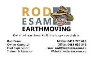 Rod Esam Earthmoving Tallebudgera Gold Coast South Preview