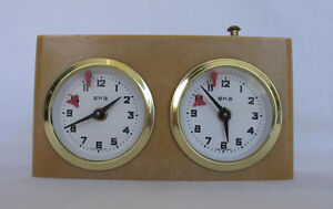 VINTAGE CHESS CLOCK BHG MADE IN W. GERMANY WORKS EXCELLENT